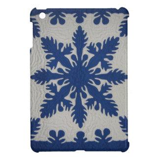 ハワイのキルトの青 iPad MINI カバー