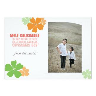 ハワイのクリスマスの休日の写真カード 12.7 X 17.8 インビテーションカード