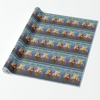 ハワイのクリスマスの日没のアロハ包装紙 ラッピングペーパー