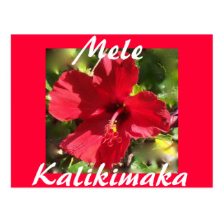 ハワイのクリスマスの郵便はがき ポストカード