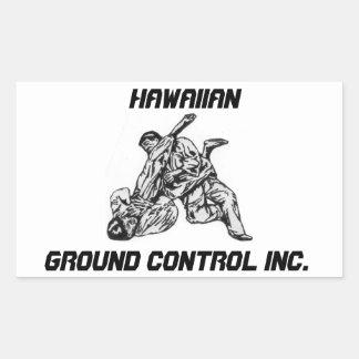 ハワイのグラウンド・コントロール株式会社のロゴのステッカー 長方形シール