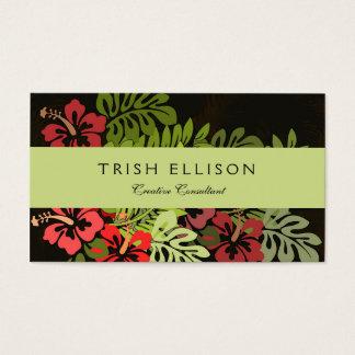 ハワイのサーファーのアロハ花の芸術のプリントの花柄 名刺