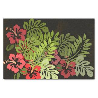 ハワイのサーファーのアロハ花の芸術のプリントの花柄 薄葉紙