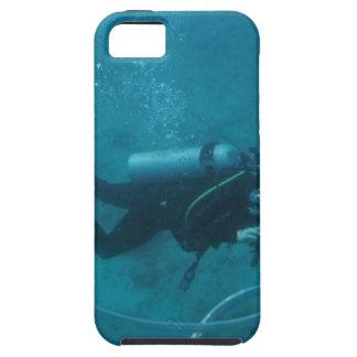 ハワイのスキューバダイバー iPhone SE/5/5s ケース