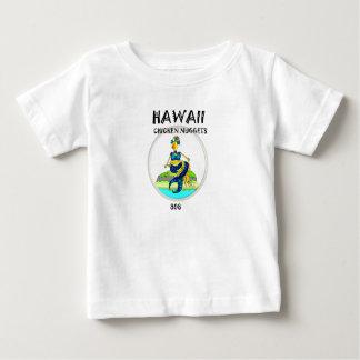 ハワイのチキン・ナゲットの人魚の鶏 ベビーTシャツ