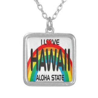 ハワイのネックレス シルバープレートネックレス