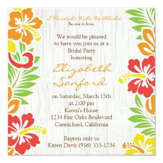 ハワイのハイビスカスによっては招待状が開花します カード