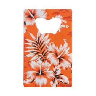ハワイのハイビスカスの花の背景 クレジットカード ボトルオープナー