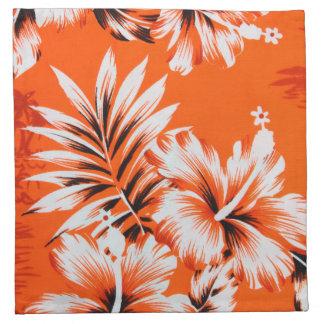 ハワイのハイビスカスの花の背景 ナプキンクロス