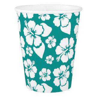 ハワイのハイビスカスの花模様 紙コップ