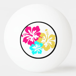 ハワイのハイビスカスの花 卓球ボール