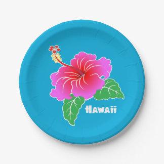 ハワイのハイビスカス ペーパープレート