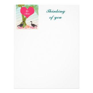 ハワイのバレンタインのギフト愛Neneのやし レターヘッド