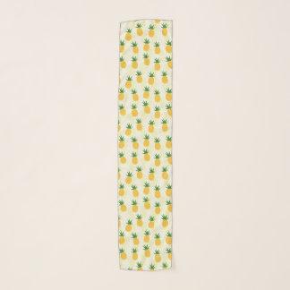 ハワイのパイナップルパターン熱帯デザイン スカーフ