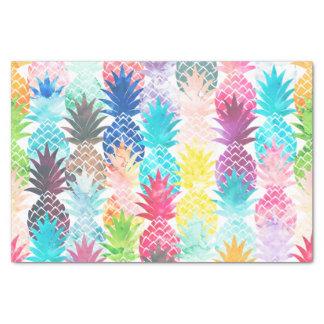 ハワイのパイナップルパターン熱帯水彩画 薄葉紙