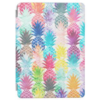 ハワイのパイナップルパターン熱帯水彩画 iPad AIR カバー