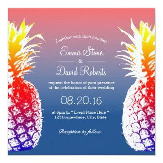 ハワイのパイナップル熱帯結婚式招待状 カード
