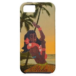ハワイのビーチのフラのダンサー iPhone SE/5/5s ケース