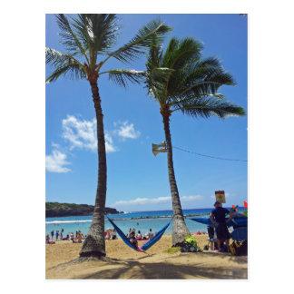 ハワイのビーチのリラックス ポストカード
