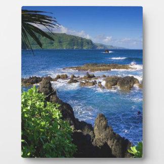 ハワイのビーチの景色 フォトプラーク