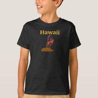 ハワイのフラ女の子のダンサー Tシャツ
