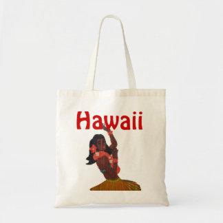 ハワイのフラ女の子 トートバッグ