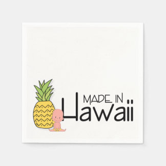 ハワイのベビーシャワーで作られる スタンダードカクテルナプキン
