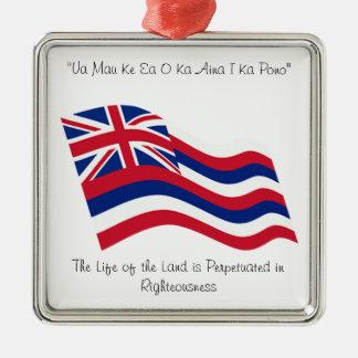 ハワイのモットー メタルオーナメント