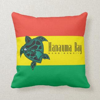 ハワイのレゲエのカメの旗 クッション