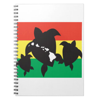 ハワイのレゲエのカメ ノートブック