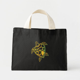 ハワイのレゲエのカメ ミニトートバッグ