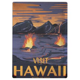 ハワイのヴィンテージ旅行ポスター クリップボード