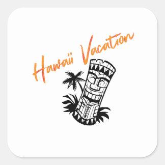 ハワイの休暇 スクエアシール