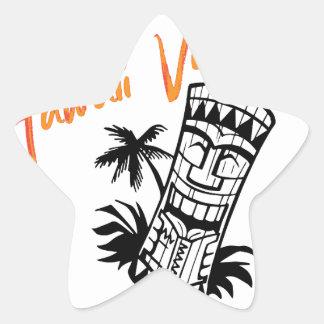 ハワイの休暇 星シール