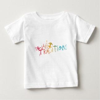 ハワイの伝統の髭そりの氷によって着色される幼児Tシャツ ベビーTシャツ