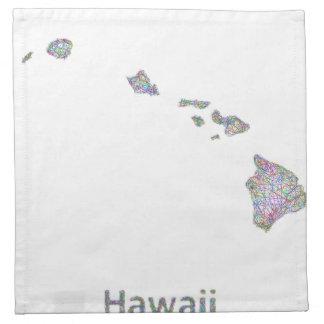 ハワイの地図 ナプキンクロス