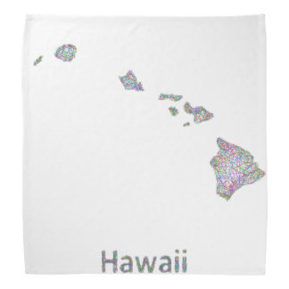 ハワイの地図 バンダナ