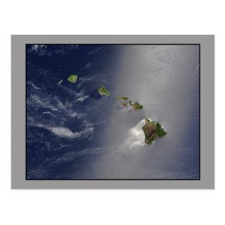 ハワイの多島海の空中写真 ポストカード
