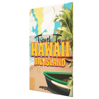 ハワイの大きい島の結婚式のヴィンテージ旅行ポスター キャンバスプリント