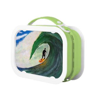 ハワイの学校給食箱のプラスチックのサーフィンのサーファー ランチボックス