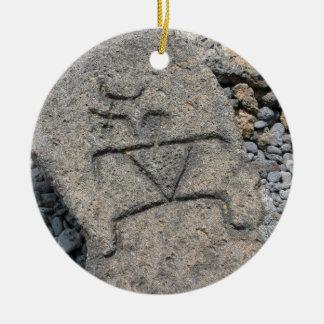 ハワイの岩石彫刻のオーナメント セラミックオーナメント