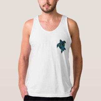 ハワイの島のカメ タンクトップ