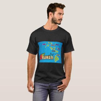 ハワイの島の地図 Tシャツ