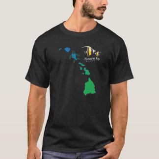 ハワイの島の鎖- Hanauma湾のMoorishの偶像 Tシャツ