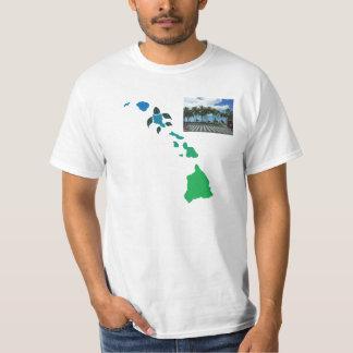 ハワイの島の鎖- Waikikiのビーチ Tシャツ