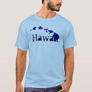 ハワイの島の青いテーマの人のティー Tシャツ