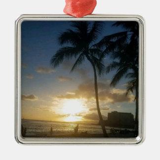 ハワイの島はライフスタイルです メタルオーナメント