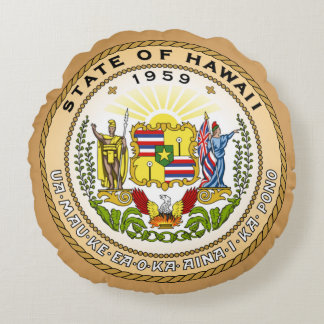 ハワイの州のシール ラウンドクッション