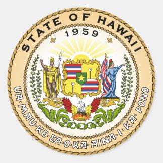ハワイの州のシール ラウンドシール