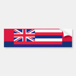 ハワイの州の旗のデザインの装飾 バンパーステッカー